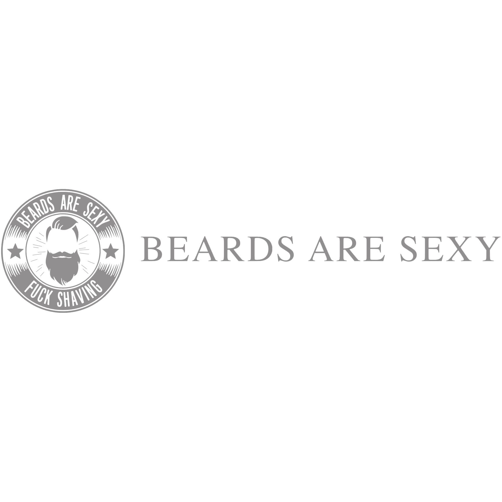 Logo Beards Are Sexy Grijs